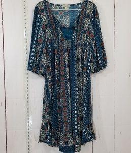 Bohemian floral dress size XL